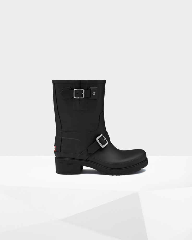 Women's Original Rubber Biker Boots | Official Hunter Boots Site
