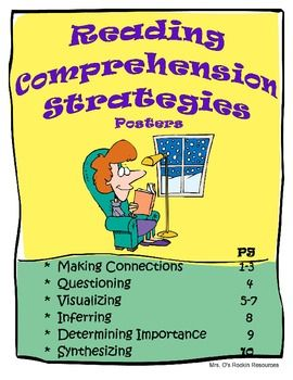 Reading Comprehension Strategies Posters and Cards $