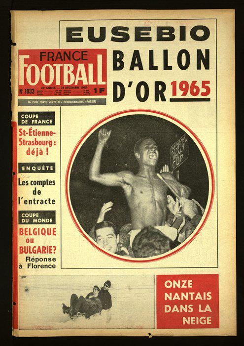 France Football Covers: Eusébio Ballon d'Or 1965
