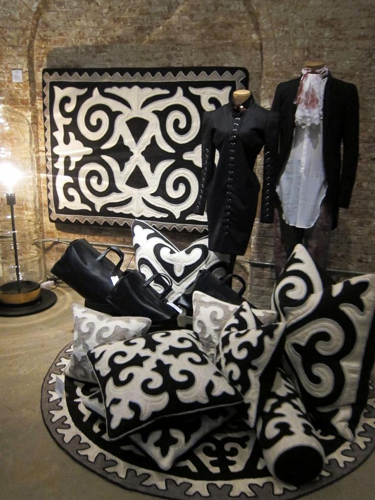 shyrdak pillow installation in the gorgeous patron of the new