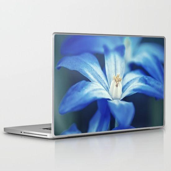 Small Blue Flowers Laptop & iPad Skin