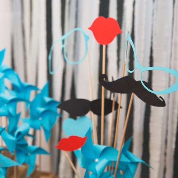 If you're planning to have photobooth on your wedding, these funny props by Made In Heaven are inevitable. In our package you'll find 11 props. :)