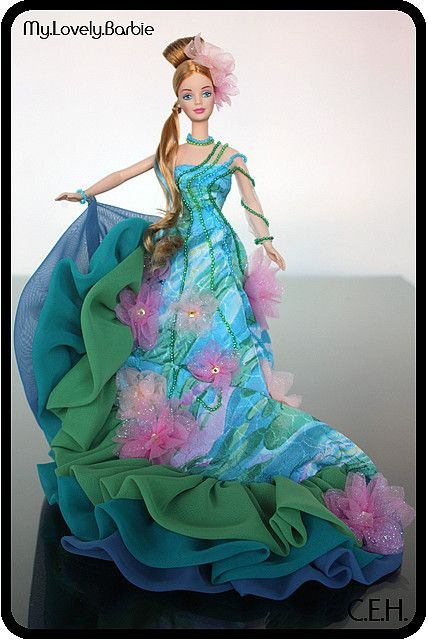 1997 Water Lily Barbie 174 Artist Series Barbie Ll