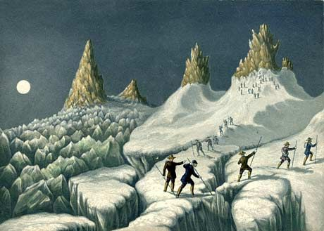 Albert Smith 'The ascent of Mt Blanc' - Victorians were crazy mountainiers and Roberts had a popular show about this