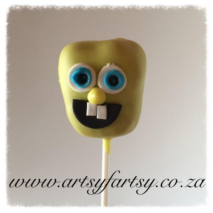 Sponge Bob Square Pants Cakepop #spongebobsquarepantscakepop