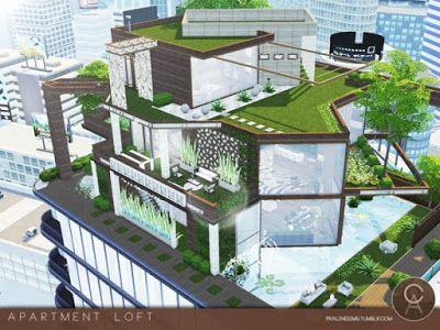 The Sims 4 Mody: Apartament Loft od Pralinesims