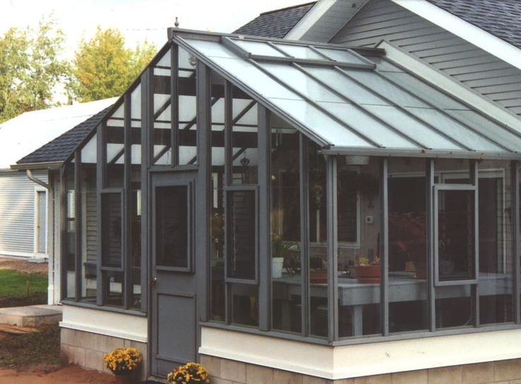 8 best attached greenhouse images on pinterest for Detached sunroom