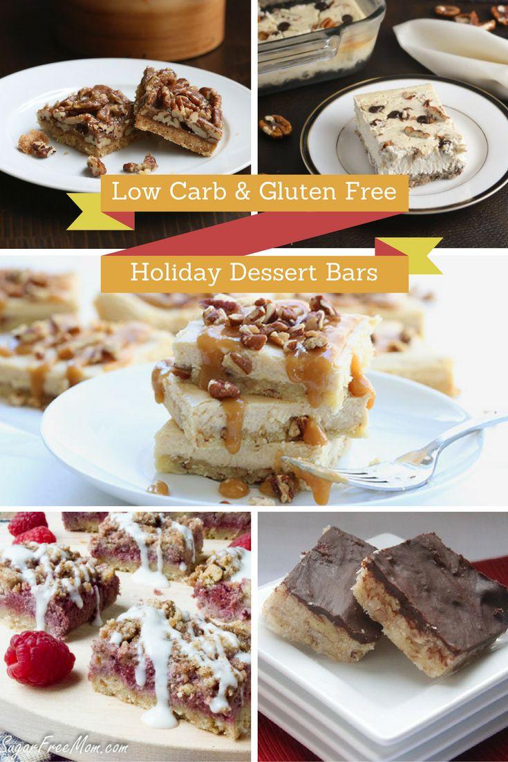 14 Gluten Free Sugar-Free Low Carb Holiday Dessert Bars