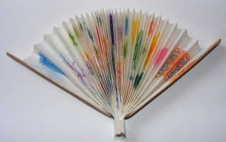 Chinese Fan: white paper, two wide craft sticks, glue, tape, markers, or crayons.  Decorate paper  pleat, glue sticks to each end, should stick out above the top of the paper.  Tape the bottom of the paper together.