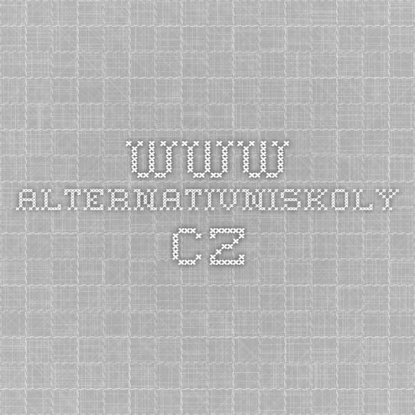 www.alternativniskoly.cz