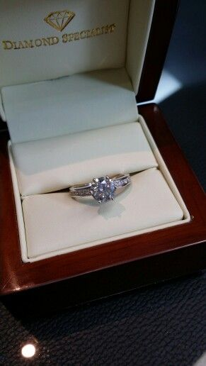 Channel setted diamond ring