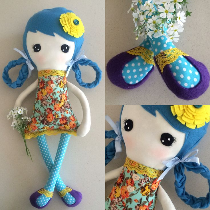 Sweetpea, handmade doll, 21in/55cm, anime www.totorogifts.etsy.com