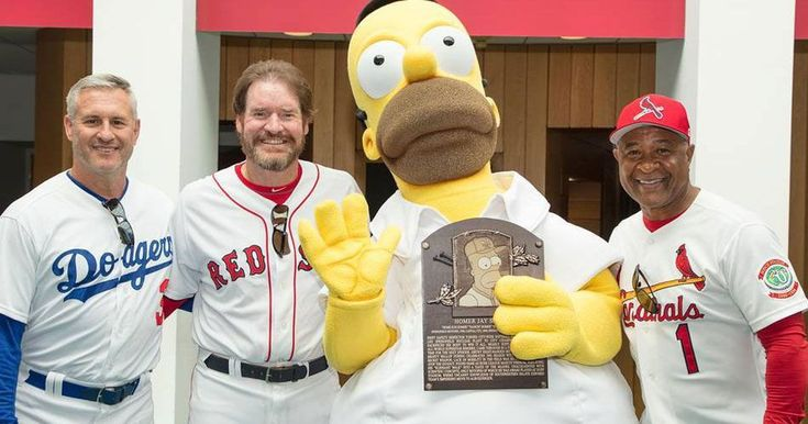 Homer Simpson inducted into the Baseball Hall of Fame. D'oh!