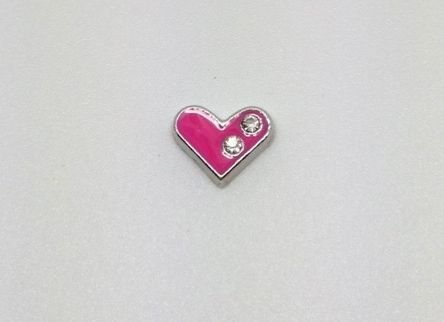 Pink with crystals heart is one of our best selling charms