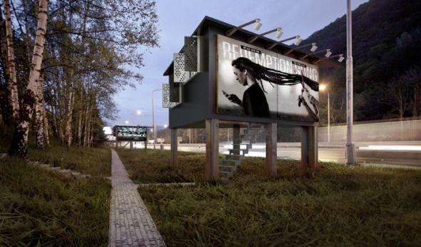 Un arquitecto eslovaco convierte los paneles publicitarios en casas para los sin techo - Noticias de Arquitectura - Buscador de Arquitectura