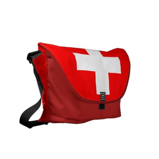 Swiss Flag Rickshaw Messenger Bag