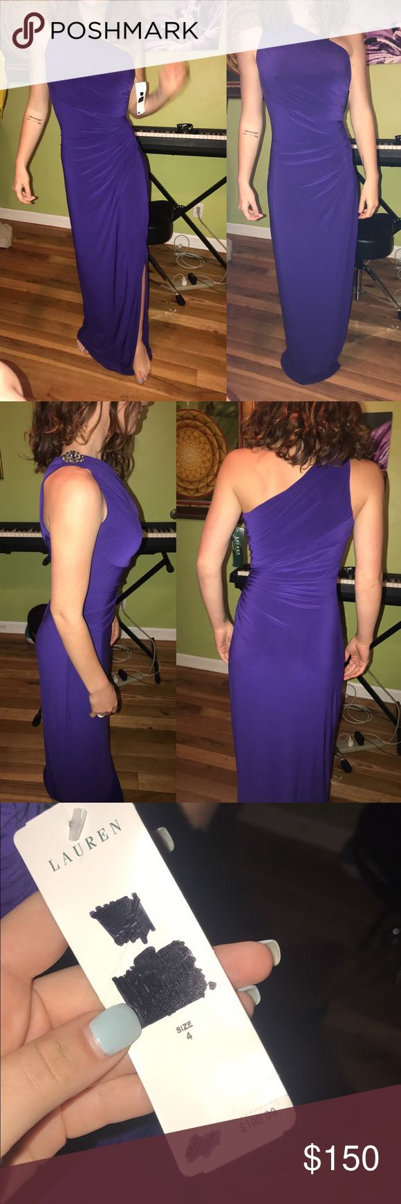 PROM- purple Ralph Lauren dress! Un worn with tags This is so flattering, and so cute. I love the shape and it's so slimming! I bought it, full price, make offers!!! Sherri Hill Dresses Prom