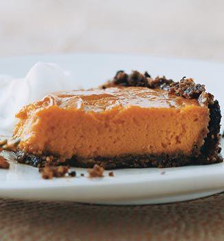 Sweet-Potato Pie with Gingersnap Pecan Crust