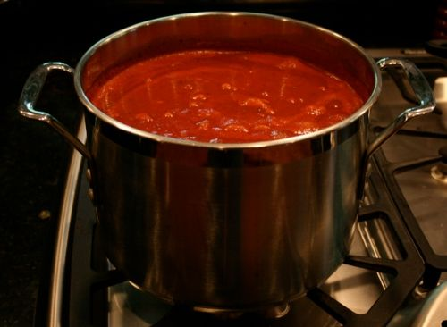 """Rich and delicious """"Sunday Gravy"""" with braised meats for pasta recipe.  Obviously, if you are Jewish, you will use beef and not pork products."""