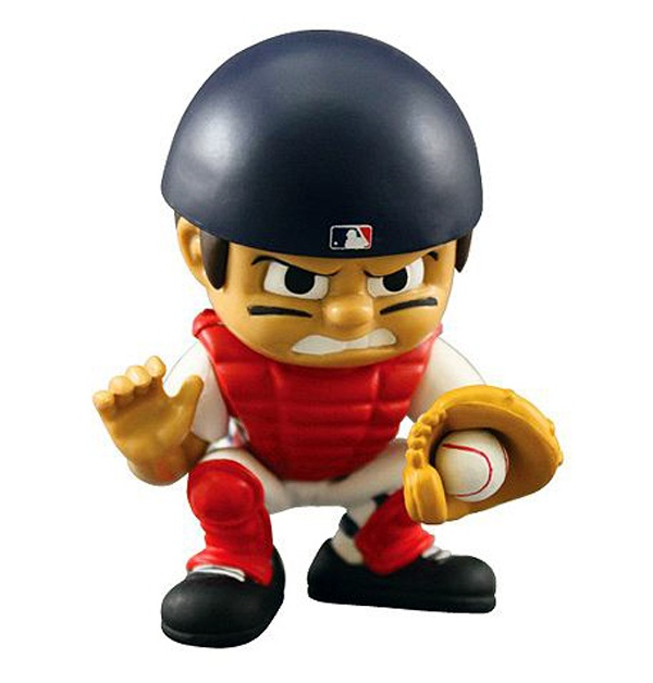 Bobblehead catcher: Parties Animal, Lil Teammate, Sox Lil, Sox Catcher, Teammate Catcher, Catcher Red, Mlb Lil, Catcher Figurines, Boston Red Sox