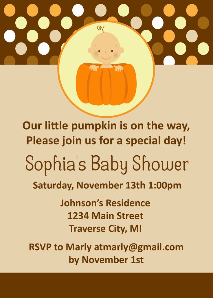 Pumpkin Baby Shower But Ours Will Be A Sprinkle Instead Of A Shower :)