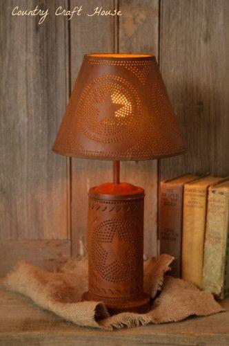 Rusty Star Lamp