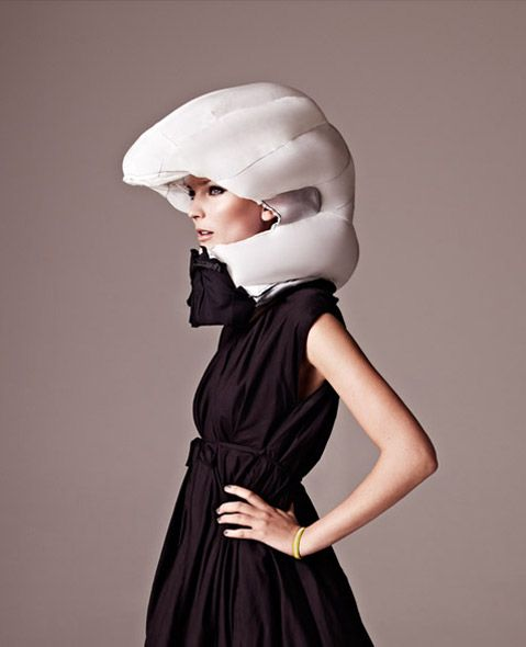 Hövding - Hövding Invisible Bicycle Helmet - Hövding is a collar for bicyclists, worn around the neck. The collar contains a folded up airbag that you'll only see if you happen to have an accident. The airbag is shaped like a hood, surrounding and protecting the bicyclist's head. The trigger mechanism is controlled by sensors which pick up the abnormal movements of a bicyclist in an accident.
