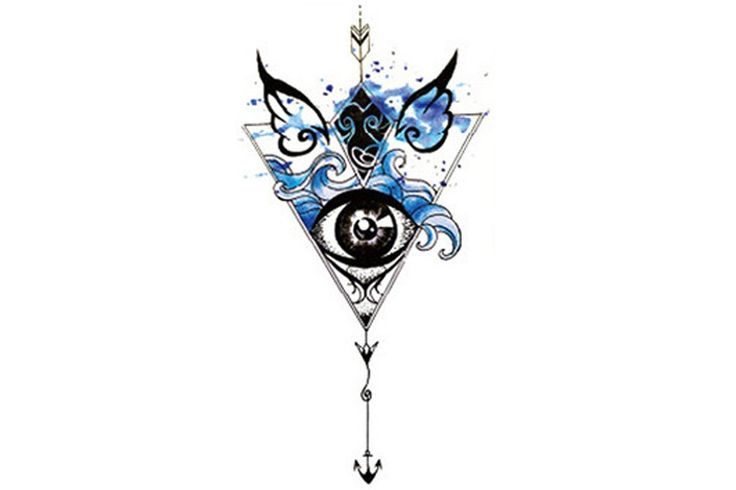 Product Information Product Type: Tattoo Sheet Tattoo Sheet Size: 21cm(L)*12cm(W) Tattoo Application & Removal Instructions Arrow Blue Watercolor Evil Eye S
