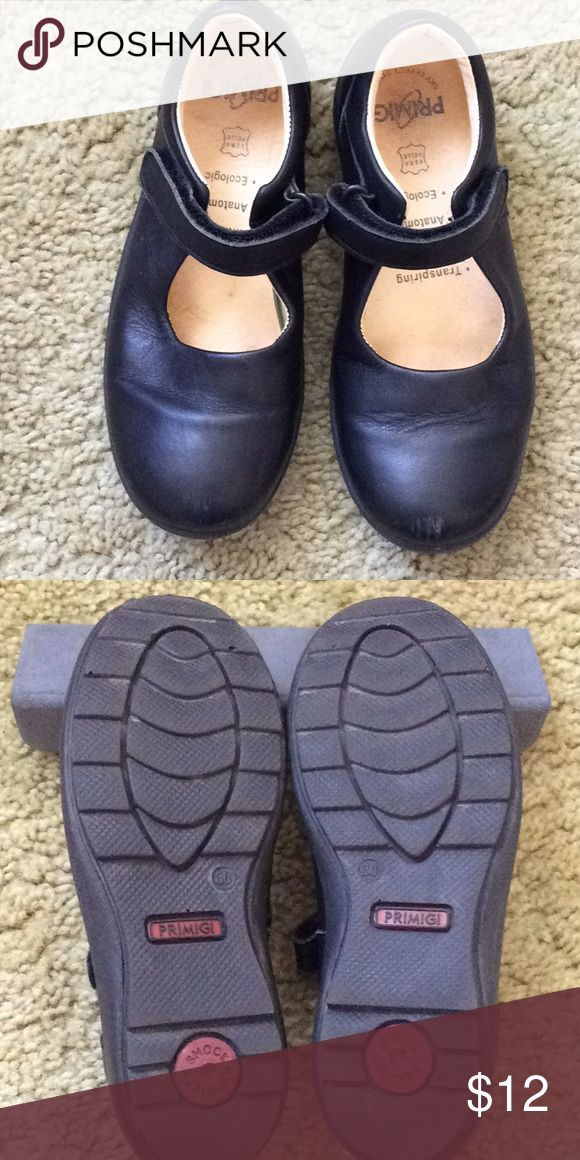 Youth Primigi black leather Shoe (Euro 30/US 12.5) Nice pair of Primigi youth May Jane's.  US size 12.5 (Euro 39). Primigi Shoes Dress Shoes