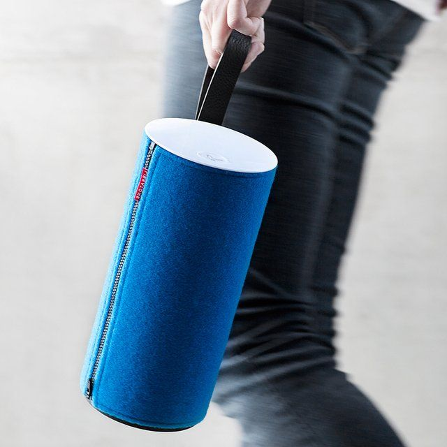 Libratone Zipp Portable Speaker / The Libratone Zipp is a portable sound system that frees you from being yoked to a room just because you like mind-blowing 360-degree surround sound and other stereo effects. http://thegadgetflow.com/portfolio/libratone-zipp-portable-speaker/
