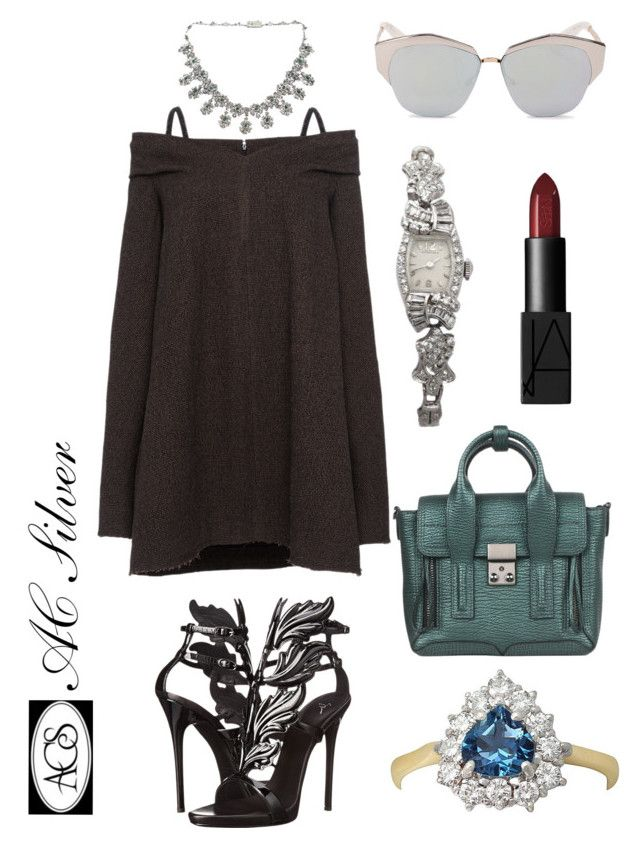 """""""Off the Shoulder Style"""" by ac-silver ❤ liked on Polyvore featuring мода, Isa Arfen, Giuseppe Zanotti, 3.1 Phillip Lim, Christian Dior, Longines и NARS Cosmetics"""