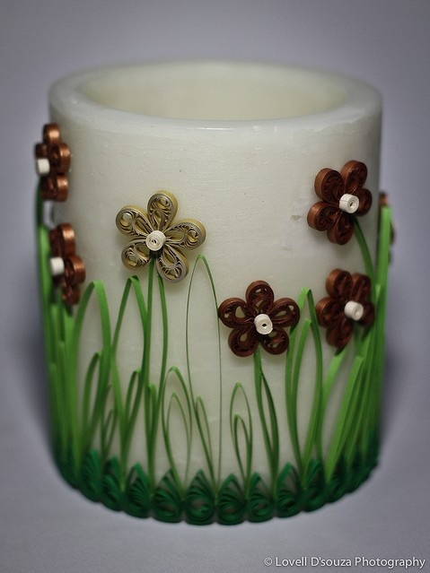 Quilled Votive Candle Holder by Lovell D'souza