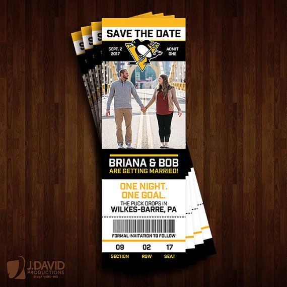 Pittsburgh Penguins Save the Date Ticket by JDavidProductions