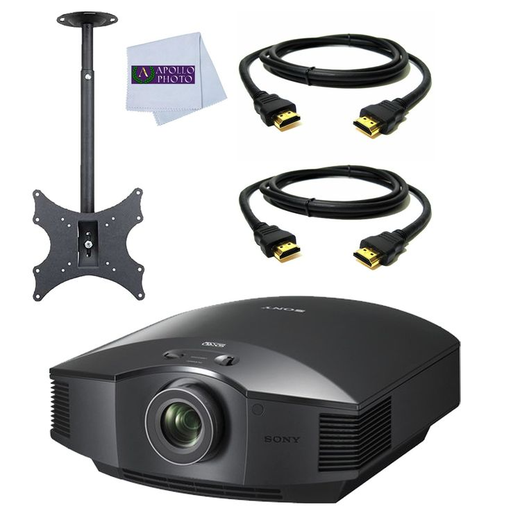 Sony VPL-HW65ES Full HD SXRD Home Theater Projector + TUFF MOUNT C7016 High Quality Durable Ceiling TV Mount for 13-Inch to 37-Inch Displays + 2 HDMI Cables. Sony VPL-HW65ES Full HD SXRD Home Theater Projector. TUFF MOUNT C7016 High Quality Durable Ceiling TV Mount for 13-Inch to 37-Inch Displays. 12ft HDMI Cable. 6ft HDMI Cable. Microfiber Cleaning Cloth.