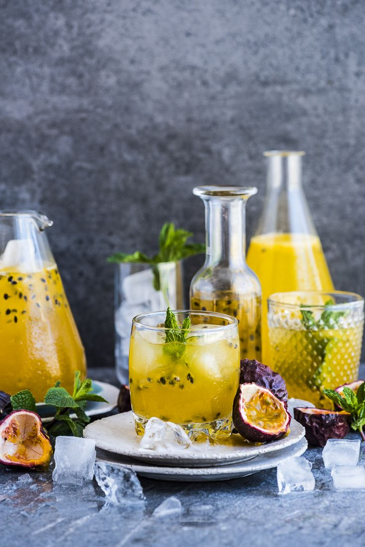 Passion Fruit Champagne - a super easy cordial made when passion fruit are in season and mixed for champagne for a festive drink