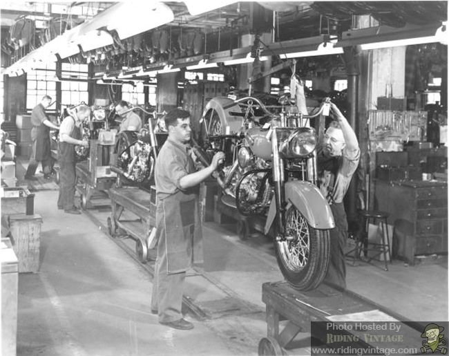 Vintage Harley Davidson factory