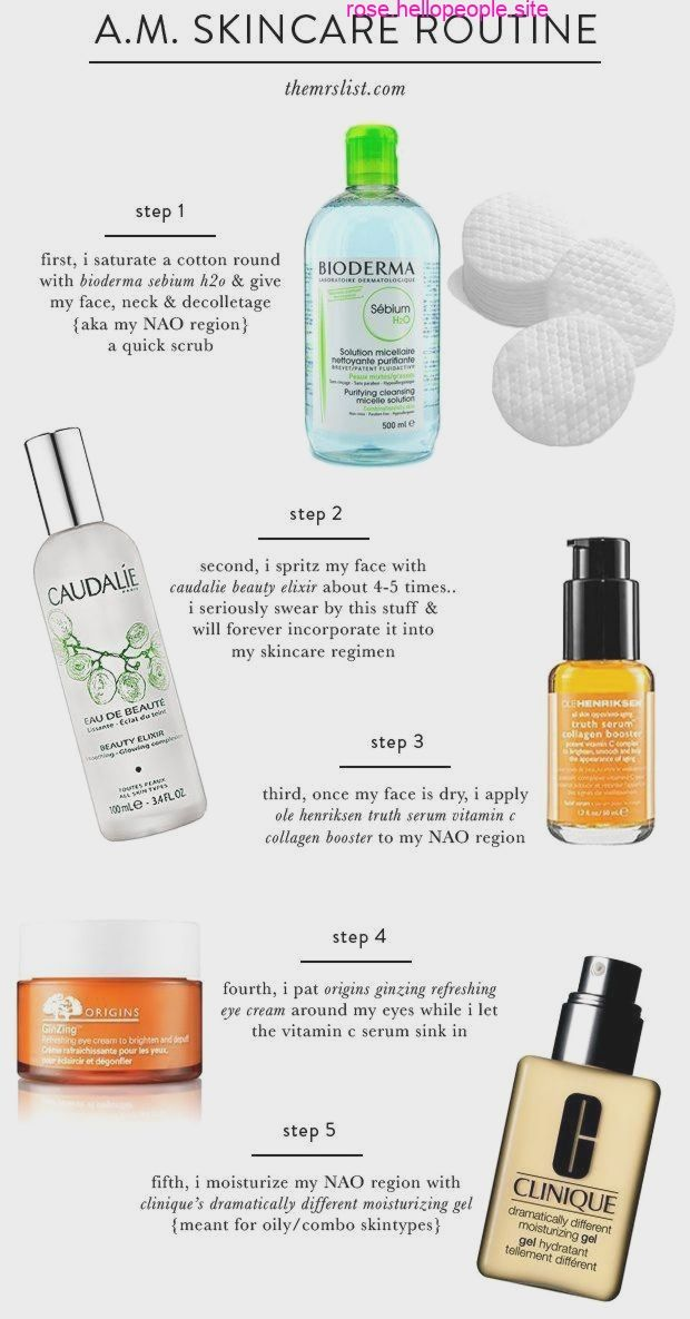 Un M Programme De Soins De La Peau La Liste Mrs Skin Care Routine Sensitive Skin Care Morning Skin Care Routine