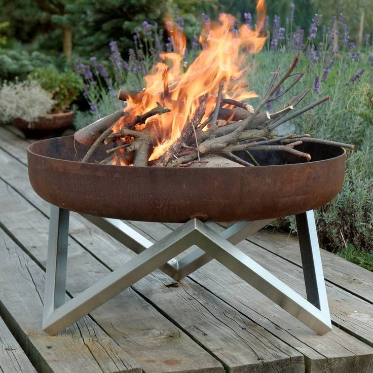 A contemporary design, high quality hand-finished solid steel fire pit. Its features will complement many outdoor decors, both in winter and summer.This fire pit is also available with stainless steel barbecue grill grate. It comes with wooden handles and can be positioned in 6 different heights.This fire pit takes its name from a Mediterranean land which has been burning for at least 2500 years. Its shape is a reflection on nature's eternal recurrence with a central element of fire. This…