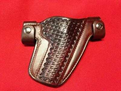 Snap Holster - Basket Stamped, with Rich Brown Dye