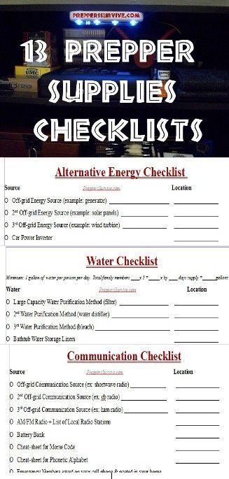 outdoor kitchen supplies online planner prepper checklist   prepping lists of ...