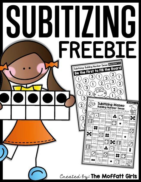 Free Subitizing Sampler Packet! Teach number sense for Preschool and Kindergarten with these hands-on and fun activities, and set a strong foundation for future math fluency! #mathforkindergarten #mathtips
