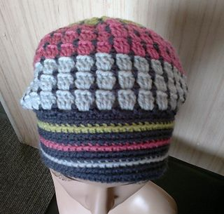 This very feminine beanie is a stash-buster !