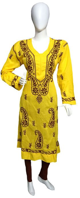 "Self Design Lucknowi Chikan Anarkali Kurta List price: Rs1399   Rs899 You save: Rs500 (36%) SIZE: CODE:CHK132 Availability: 1 item(s) Quantity: Minimum quantity for ""Self Design Lucknowi Chikan Anarkali Kurta"" is 1.   Specifications GENERAL DETAILS Pattern	Self Design Ideal For	Women's Occasion	Casual"