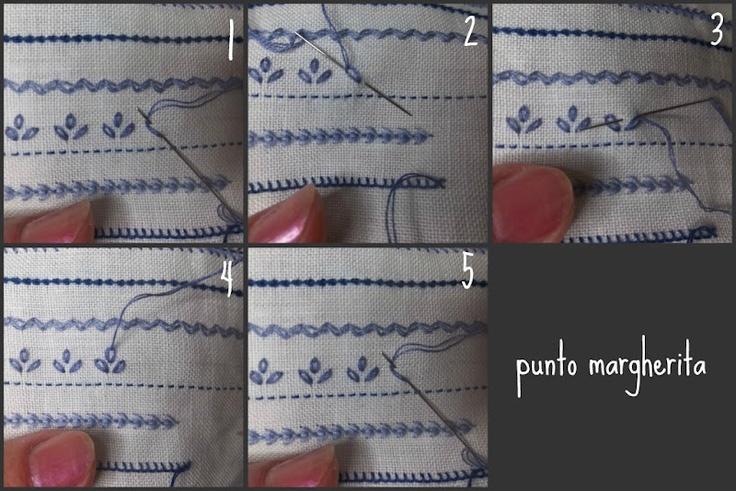 Lavanda e Lillà: Tutorial 4: Punto Margherita, Punto Nodini, Punto Corallo e Punto Spiga