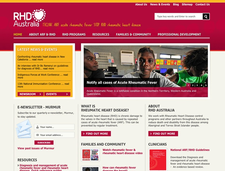 Red and Yellow Website Design. RHD Australia Website Design by Captovate, Darwin