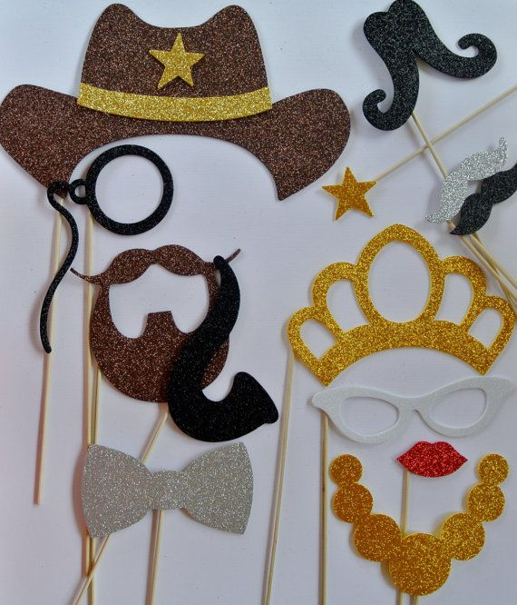 12 Western Photo Booth wedding photo booth mustache on by PICWRAP, $30.00