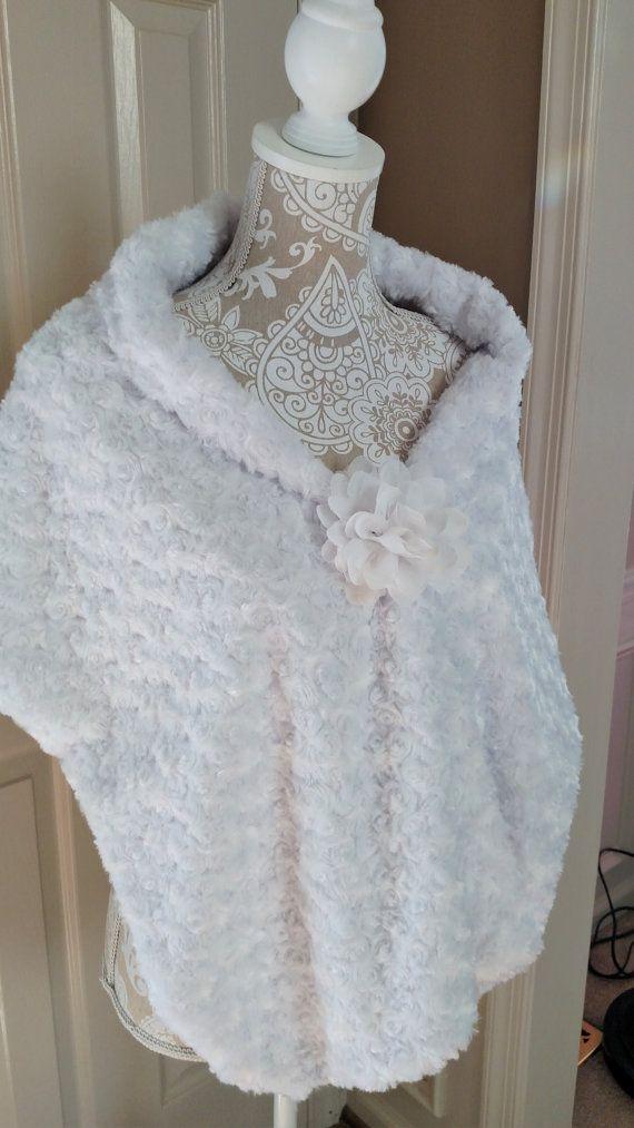 Bridal Wrap Winter Wedding Shawl Faux Fur by ...