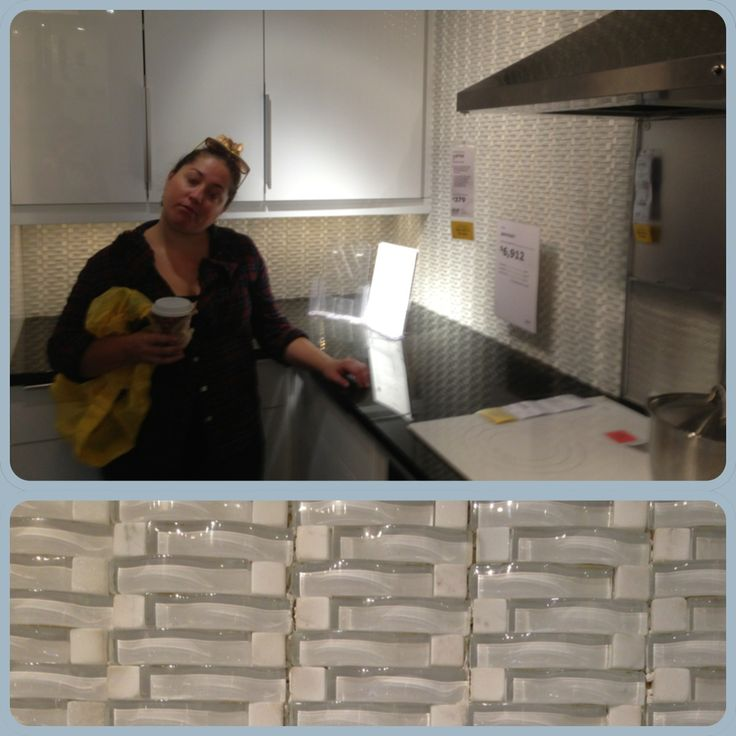 Ikea Kitchen Showroom: IKEA Showroom Kitchen Tile Backsplash