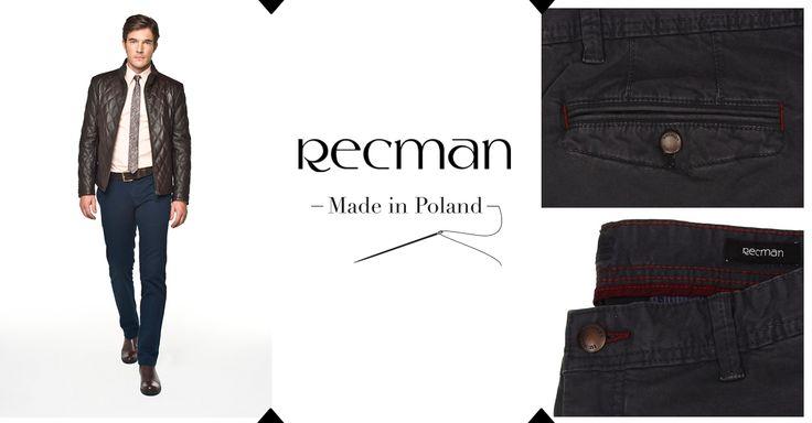 W spodniach liczy się zarówno odpowiedni krój, jak i właściwe dobrany materiał. Do tego doskonałe wykończenie i detale sprawią, że spodnie Savon staną się jednymi z ulubionych. bit.ly/Recman_SavonGranat http://bit.ly/Recman_SavonGrafit