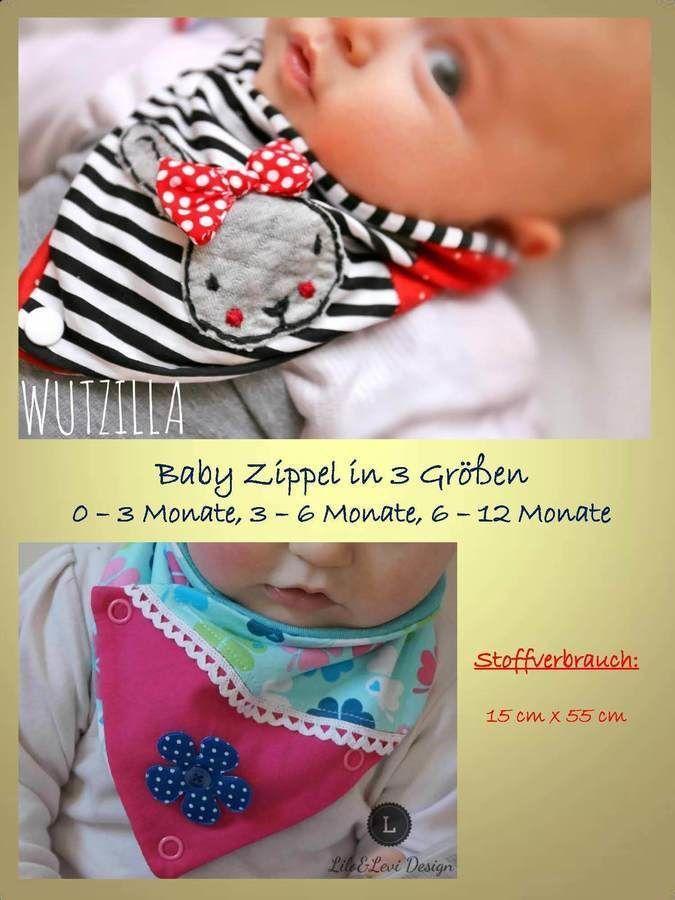 Wickelschal - Baby Zippel Wickelschal in 3 Größen - Nähanleitungen bei Makerist